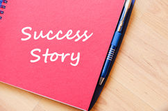 Success story write on notebook Royalty Free Stock Photos
