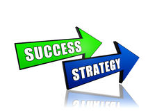 Success and strategy in arrows Royalty Free Stock Images