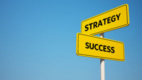 Success and Strategy Signpost with Clipping Path Stock Images