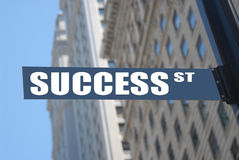 Success street. Sign, concept picture Royalty Free Stock Photos