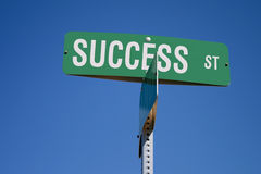 Success Street Sign Royalty Free Stock Photo