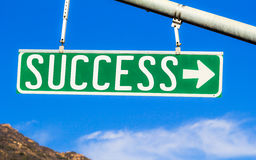 Success Street Sign Royalty Free Stock Image