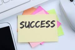 Success successful career business concept leadership desk Stock Photos
