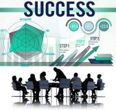 Success Successful Goal Achievement Complete Concept Stock Photo