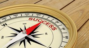 Success successful succeed compass. 3D royalty free stock image
