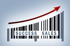 Success sules growing revenue royalty free stock image
