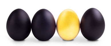 Success Symbol Concept with gold and black eggs Stock Images