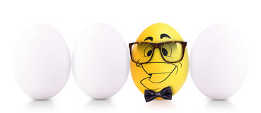 Success Symbol Concept with white egg Royalty Free Stock Photos