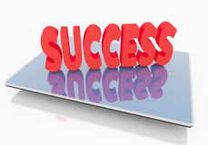 Success on Tablet Royalty Free Stock Image