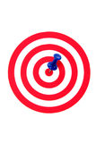 Success target. On a white background royalty free stock images