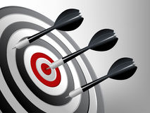 Success Target. Dart on the target, Successful and focus concept Stock Photo