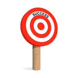 Success target board. Archery target board with Success label. Vector illustration Stock Photos
