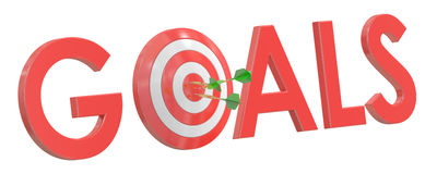 Success Target, 3D rendering Royalty Free Stock Photos