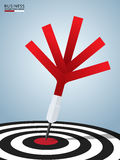 Success target. Dart target success business concept. Can be used for workflow layout, banner, diagram, web design Stock Photos