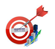 Success target illustration design Stock Image