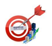 Success target illustration design Stock Image