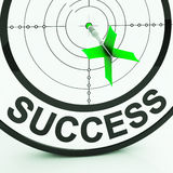 Success Target Shows Achievement Strategy And Winning Stock Photos