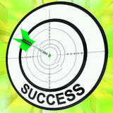 Success Target Shows Development Ideas And Vision Royalty Free Stock Image