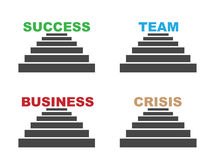 Success team business crisis Royalty Free Stock Photos