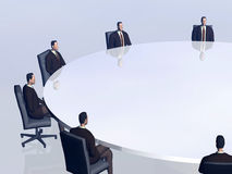 The success team in conference. Royalty Free Stock Photos