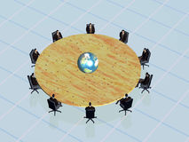 The success team in conference world wide.. Royalty Free Stock Photo