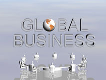 The success team in global conference. Royalty Free Stock Photography