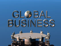 The success team in global conference. Royalty Free Stock Images