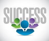 Success team sign illustration design graphic Stock Images