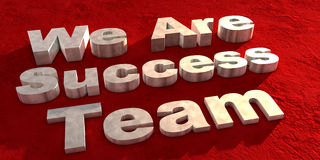 We are success team Royalty Free Stock Photos