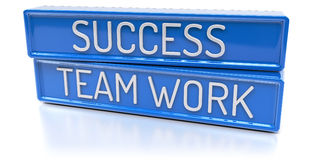 Success Team Work - 3D Render - Isolated Royalty Free Stock Photos