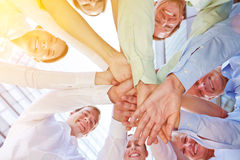 Success and teamwork in a business team Stock Image