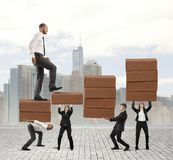 Success of teamwork. Concept of statistical success of a teamwork Royalty Free Stock Photo