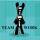 Success teamworkers Stock Image