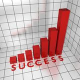 Success text diagram 3d Royalty Free Stock Images