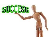 Success text illustration manikin Stock Images