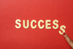 Success Text Royalty Free Stock Photos