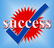 Success Tick Means Resolution Victor And Yes Royalty Free Stock Images
