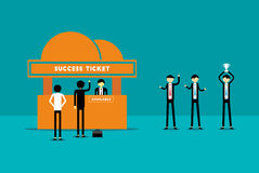 Success Ticket Stock Images