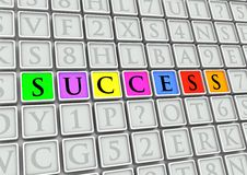 Success Tiles Royalty Free Stock Photos