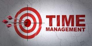 Timeline concept: target and Time Management on wall background Royalty Free Stock Photography