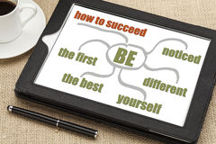 Success tips on digital tablet Stock Photography