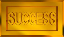 Success. Title on golden framed plate Royalty Free Stock Image
