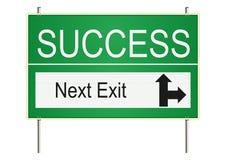 Success traffic sign. Stock Photos