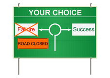 Success traffic sign. Royalty Free Stock Photography