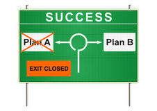 Success traffic sign. Royalty Free Stock Images
