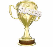 Success Trophy Achieve Goal Win Award Word Stock Photography