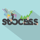 Success Typography Design Royalty Free Stock Photo