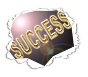 Success Uncovered. Computer generated illustration depicting the uncovering of success royalty free illustration