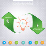 Success and Unsuccess Modern template infographic Stock Photo