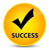 Success (validate icon) elegant yellow round button Royalty Free Stock Photography